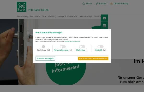 Vorschau von www.psd-kiel.de, PSD Bank Kiel eG
