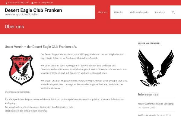 Vorschau von www.decf.de, Desert Eagle Club Franken e.V.