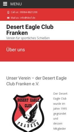 Vorschau der mobilen Webseite www.decf.de, Desert Eagle Club Franken e.V.
