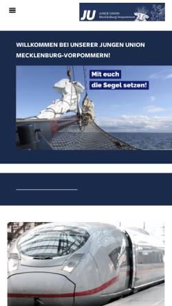 Vorschau der mobilen Webseite ju-mv.de, Junge Union Mecklenburg-Vorpommern
