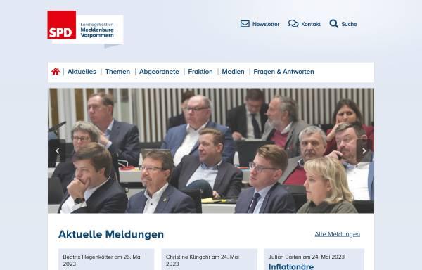 Vorschau von www.spd-fraktion-mv.de, SPD-Landtagsfraktion Mecklenburg-Vorpommern