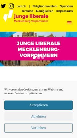 Vorschau der mobilen Webseite www.julis-mv.de, JuLis - Junge Liberale Mecklenburg-Vorpommern