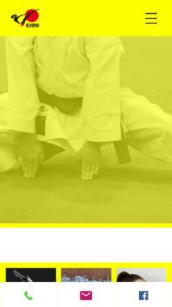 Vorschau der mobilen Webseite www.karate-kvbw.de, Karateverband Baden-Württemberg e.V.