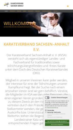 Vorschau der mobilen Webseite www.karateverband-sachsen-anhalt.de, Karateverband Sachsen - Anhalt e.V.