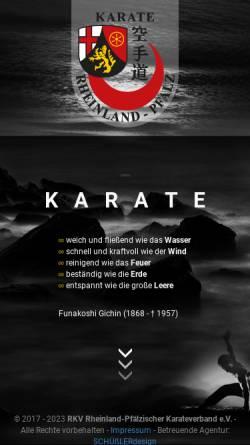 Vorschau der mobilen Webseite www.rkv-karate.de, Rheinland Pfälzischer Karate Verband e.V.