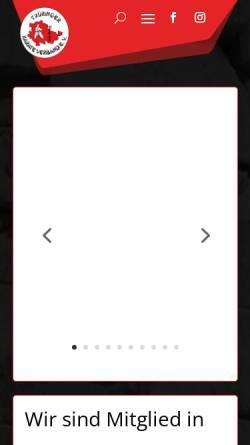Vorschau der mobilen Webseite www.karate-tkv.de, Thüringer Karateverband e.V.