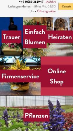 Vorschau der mobilen Webseite blumen-elsdoerfer.de, Blumen Elsdörfer