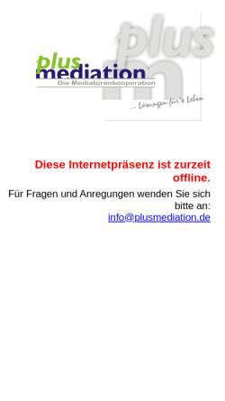 Vorschau der mobilen Webseite www.plusmediation.de, Plusmediation - Dr. G. Wolnik