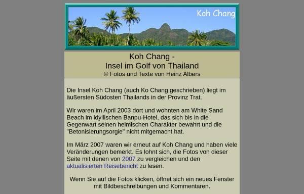 Vorschau von www.heinzalbers.org, Koh Chang [Heinz Albers]