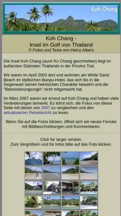 Vorschau der mobilen Webseite www.heinzalbers.org, Koh Chang [Heinz Albers]