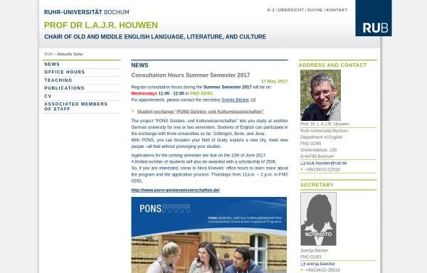 Vorschau von homepage.ruhr-uni-bochum.de, Prof. Dr L.A.J.R. Houwen