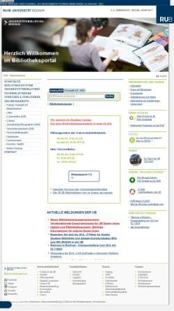 Vorschau der mobilen Webseite www.ub.ruhr-uni-bochum.de, Universitätsbibliothek Bochum