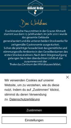 Vorschau der mobilen Webseite www.gloecklbraeu.at, Glöcklbräu