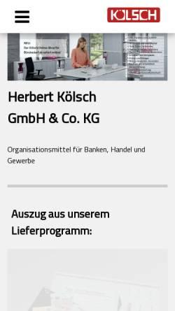 Vorschau der mobilen Webseite www.herbertkoelsch.com, Herbert Kölsch GmbH & Co. KG