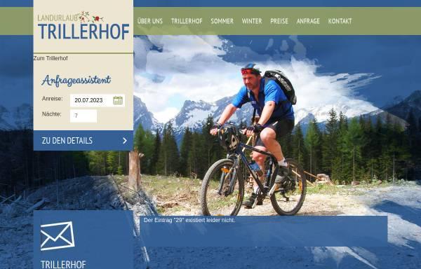 Vorschau von www.mountainbike-pension.at, Mountainbike-Pension Trillerhof