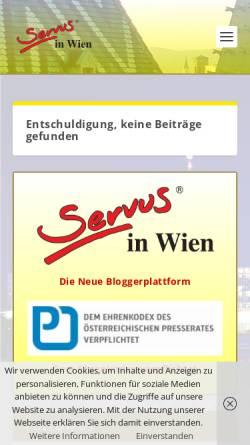 Vorschau der mobilen Webseite www.servus-in-wien.at, Zum Fein-Spitz