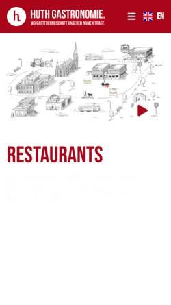 Vorschau der mobilen Webseite www.zum-huth.at, Zum Huth