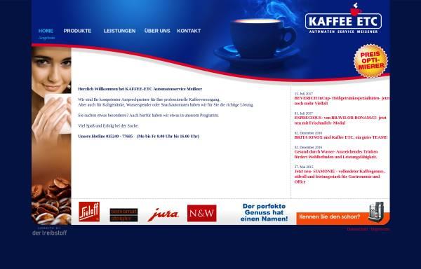 Vorschau von www.kaffee-etc.de, Automaten Service Meissner - Maik Meissner