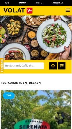 Vorschau der mobilen Webseite essen.vol.at, Essen in Bludenz