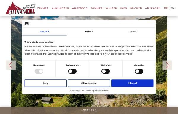 Vorschau von www.almhuette.net, Berghof Silbertal