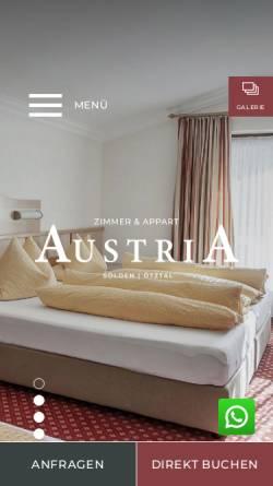 Vorschau der mobilen Webseite www.austria-soelden.at, Ferienhaus & Landhaus Austria