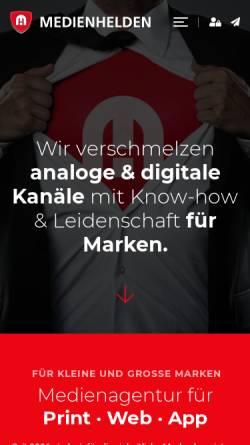 Vorschau der mobilen Webseite www.comstrate.de, Comstrate interaktive Medien