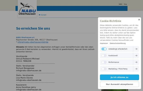 Vorschau von www.nabu-oberhausen.de, Naturschutzbund (NABU), Stadtverband Oberhausen e.V.