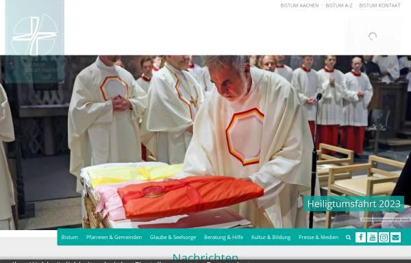 Vorschau von www.kirche-im-bistum-aachen.de, Aachen - Bistum