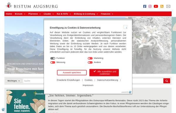 Vorschau von www.bistum-augsburg.de, Augsburg - Bistum