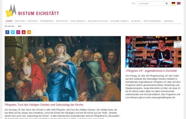 Vorschau von www.bistum-eichstaett.de, Eichstätt - Bistum