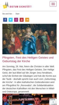 Vorschau der mobilen Webseite www.bistum-eichstaett.de, Eichstätt - Bistum
