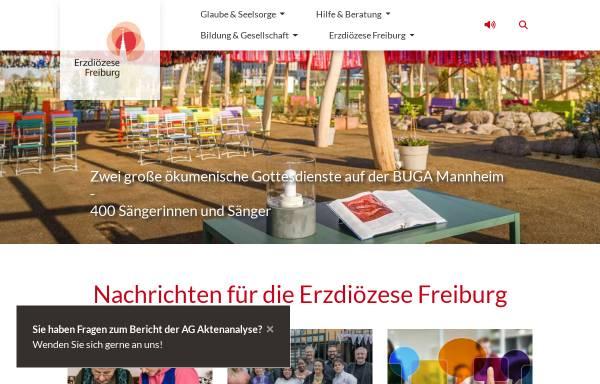 Vorschau von www.erzbistum-freiburg.de, Freiburg - Erzbistum