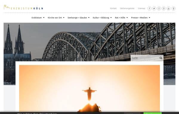 Vorschau von www.erzbistum-koeln.de, Köln - Erzbistum