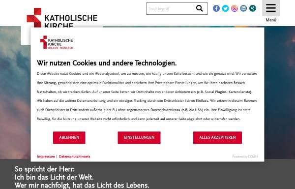 Vorschau von www.bistum-muenster.de, Münster - Bistum