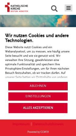 Vorschau der mobilen Webseite www.bistum-muenster.de, Münster - Bistum