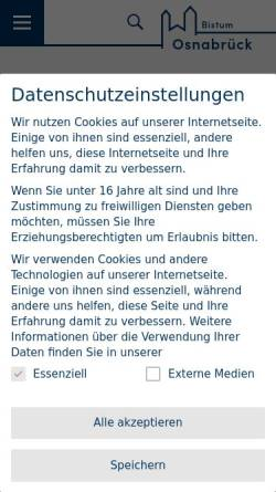 Vorschau der mobilen Webseite www.bistum-osnabrueck.de, Osnabrück - Bistum