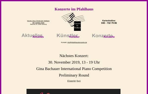 Vorschau von www.pfahlhauskonzerte.de, Pfahlhauskonzerte