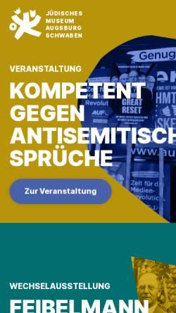 Vorschau der mobilen Webseite www.jkmas.de, Jüdisches Kulturmuseum Augsburg Schwaben