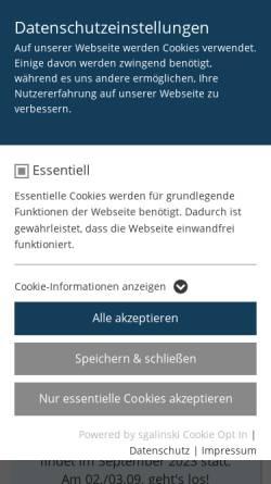 Vorschau der mobilen Webseite www.mindener-bogenschuetzen.de, Mindener Bogenschützen e.V.