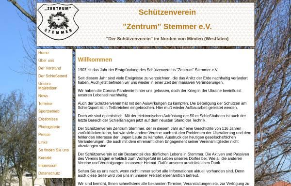 Vorschau von www.sv-zentrum-stemmer.de, Schützenverein