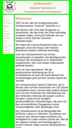 Vorschau der mobilen Webseite www.sv-zentrum-stemmer.de, Schützenverein