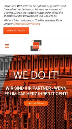 Vorschau der mobilen Webseite www.ncc-systems.de, NCC Systems GmbH