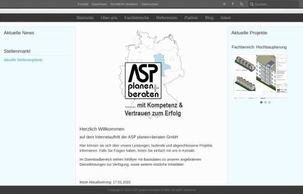 Vorschau von www.asp-de.de, ASP Planen+Bauen GmbH