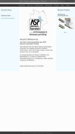 Vorschau der mobilen Webseite www.asp-de.de, ASP Planen+Bauen GmbH