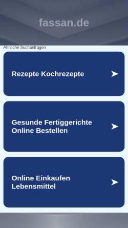 Vorschau der mobilen Webseite www.fassan.de, Fassan GmbH
