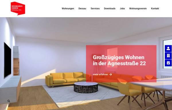 Vorschau von www.wohnungsverein-dessau.de, Wohnungsverein Dessau eG