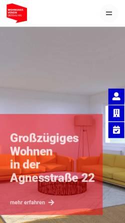 Vorschau der mobilen Webseite www.wohnungsverein-dessau.de, Wohnungsverein Dessau eG