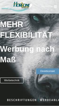 Vorschau der mobilen Webseite www.horizont-werbung.de, Horizont Werbung