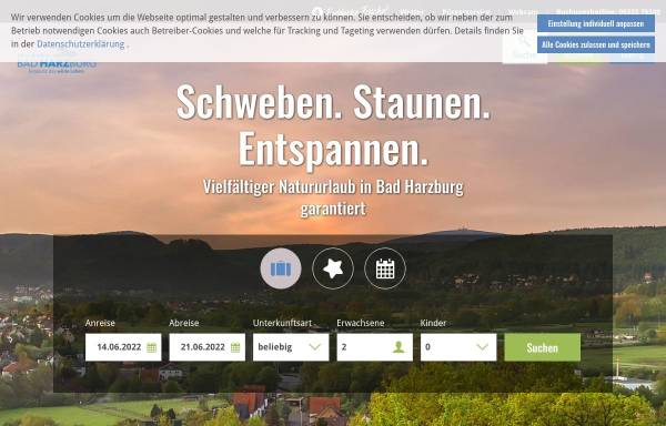 Vorschau von www.bad-harzburg.de, Bad Harzburg