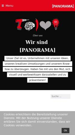 Vorschau der mobilen Webseite www.panorama-werbung.com, Panorama Werbe GmbH